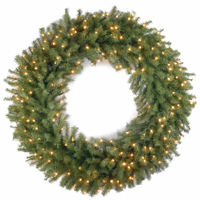 42 In. Norwood Fir Christmas Wreath with 150 Clear Lights