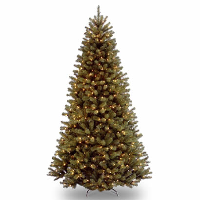 9 Ft. North Valley Spruce Christmas Tree with 700 Clear Lights-UL