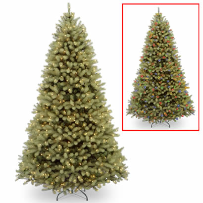 10 Ft. Feel Real Douglas Fir Christmas Tree w/ 1000 Dual LED Lights