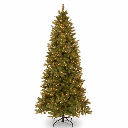9 Ft. Feel Real Douglas Slim Fir Christmas Tree with 800 Clear Lights