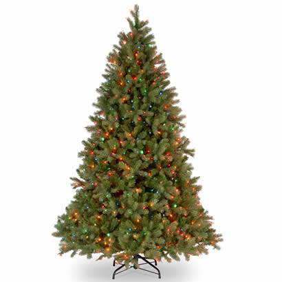 7 1/2 Ft. Feel-Real Douglas Fir Christmas Tree with 750 Multi Lights