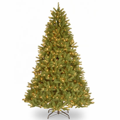 9 Ft. Feel-Real Grande Fir Christmas Tree with 900 Clear Lights