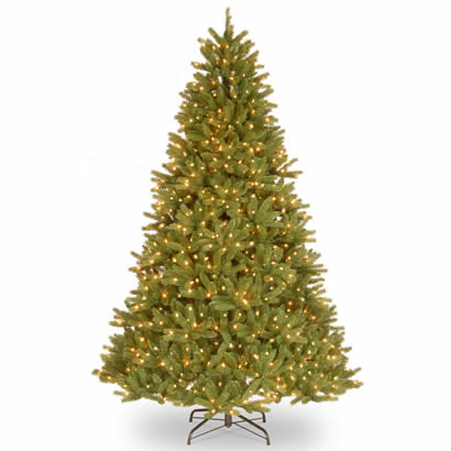 9 Ft. Feel-Real Grande Fir Christmas Tree with 1100 Clear Lights