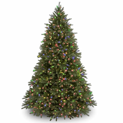 7 1/2 Ft. Feel-Real Fraser Fir Christmas Tree with 1250 Multi Lights