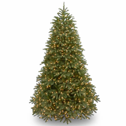7 1/2 Ft. Feel-Real Fraser Fir Christmas Tree w/ 1000 Clear Lights