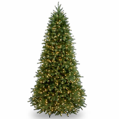 7 1/2 Ft. Feel-Real Fraser Slim Fir Christmas Tree w/ 800 Clr Lights