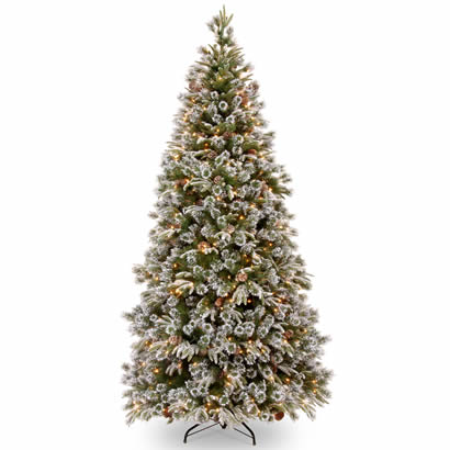 7 1/2 Ft. Feel-Real Liberty Pine Christmas Tree with 500 Clear Lights