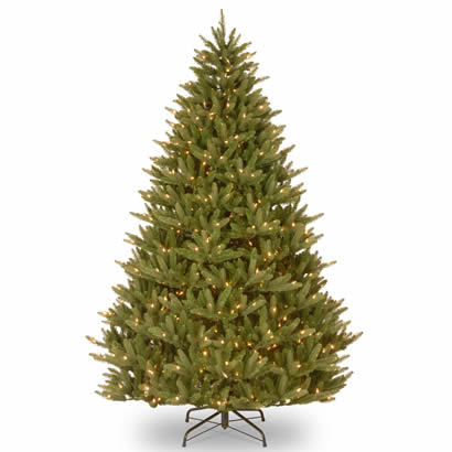 7 1/2 Ft.  Feel Real Natural Frasier Christmas Tree w/ 750 Clr Lights