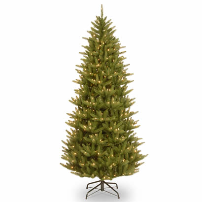 7 1/2 Ft. Feel Real Frasier Slim Christmas Tree w/ 750 Clear Lights
