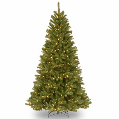7 1/2 Ft. Feel-Real Valley Spruce Christmas Tree w/ 750 Clear Lights