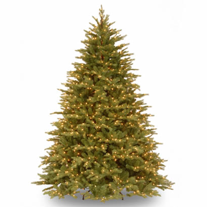 7 1/2 Ft. Feel-Real Nordic Spruce Christmas Tree w/ 900 Clear Lights