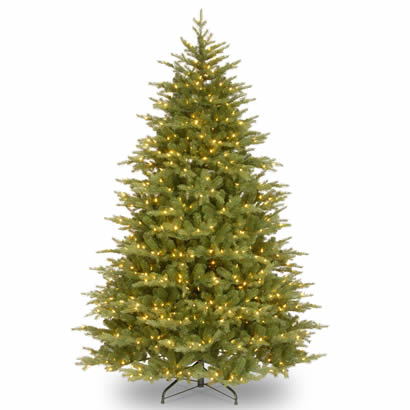 9 Ft. Feel Real Nordic Spruce Christmas Tree with 1100 Clear Lights