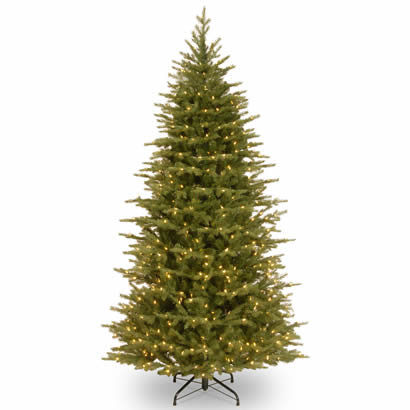 7 1/2 Ft. Feel Real Spruce Slim Christmas Tree w/ 750 Clear Lights