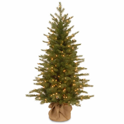 4 Ft. Feel Real Spruce Small Christmas Tree w/ 200 Clear Lights