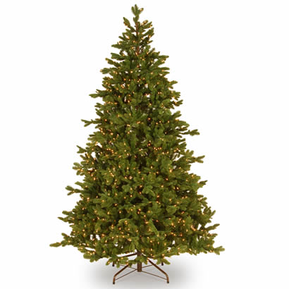7 1/2 Ft. Feel-Real Noble Fir Christmas Tree w/ 1250 Clear Lights