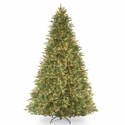 9 Ft. Feel Real Tiffany Fir Christmas Tree with 1050 Clear Lights