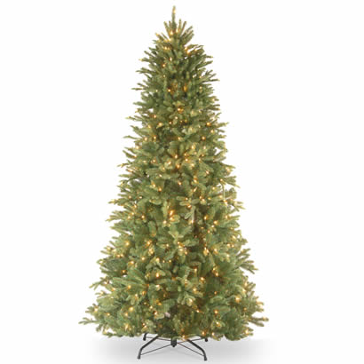 7 1/2 Ft. Feel-Real Tiffany Fir Slim Christmas Tree w/ 600 Clr Lights