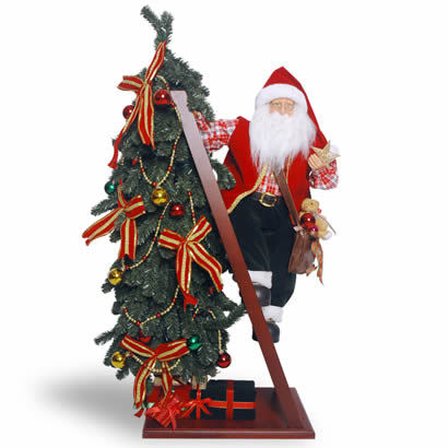 42 In. Christmas Tree with Climbing Santa Decoration