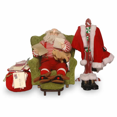 16 In. Sofa with Santa Christmas Decoration