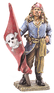 Pirate Holding Flag