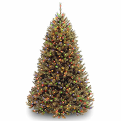 7 1/2 Ft. Rocky Ridge Pine Christmas Tree with 750 Multi Lights