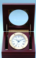 Solid Brass Boxed Clock w/ Quartz Movement