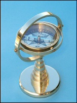 Solid Brass Gimbaled Desk Stand Compass
