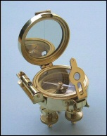 Solid Brass Stand Surveying Compass