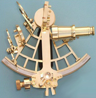 Premium C Plath Reproduction Serialized Brass Sextant w/ Hardwood Case