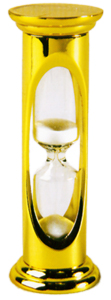 Polished Brass 3 Minute Sand Timer