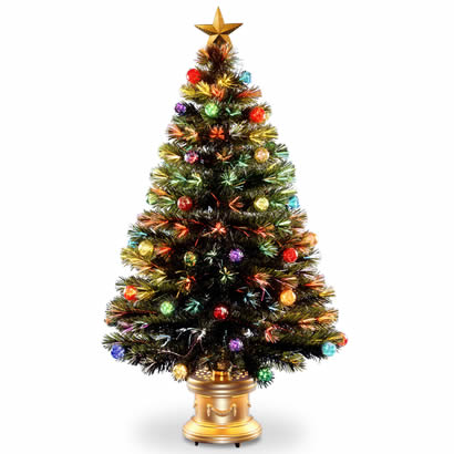 48 In. Fiber Optic Fireworks Ornament Christmas Tree w/ Top Star