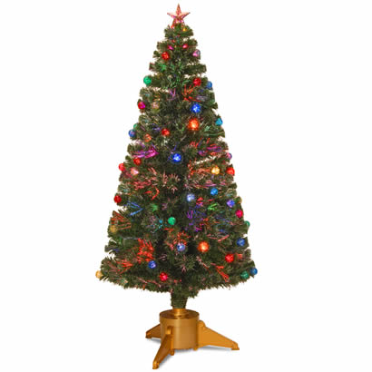 72 In. Fiber Optic Fireworks Ornament Christmas Tree w/ Top Star