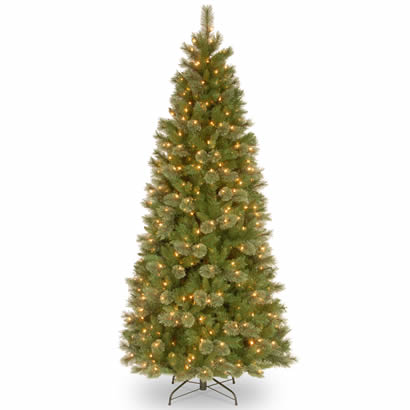 7 1/2 Ft. Tacoma Pine Slim Hinged Christmas Tree w/ 500 Clear Lights