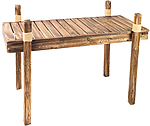Wooden Table w/ Fisherman's Rope