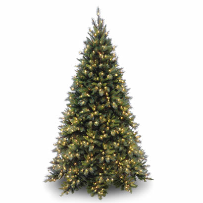 7 1/2 Ft. Tiffany Fir Hinged Christmas Tree with 700 Clear Lights