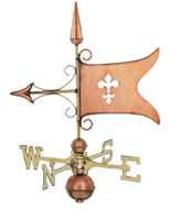 Polished Copper Banner Weathervane