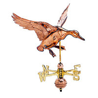 Polished Copper Landing Duck Weathervane