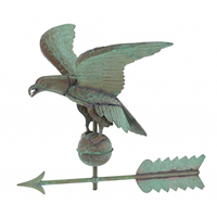Antique Copper American Eagle Weathervane