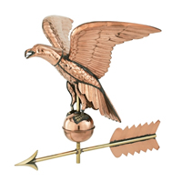 Polished Copper American Eagle Weathervane