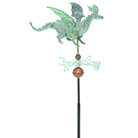 Antique Copper 3-D Dragon Weathervane