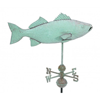 Extra Large Antique Copper Fish Weathervane