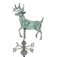 Antique Copper Extra Large Deer Weathervane