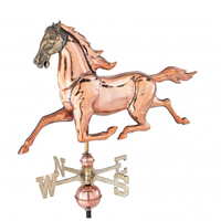 Medium Polished Copper 3-D Horse Weathervane