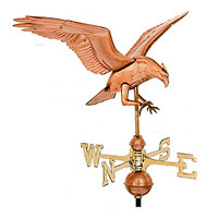 Polished Copper Osprey Weathervane
