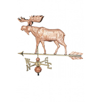 Polished Copper Moose Weathervane