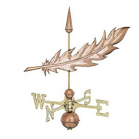 Polished Copper Quill Weathervane