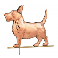 Polished Copper Scottie Dog Weathervane