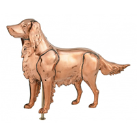 Polished Copper 3-D Hunting Dog Weathervane