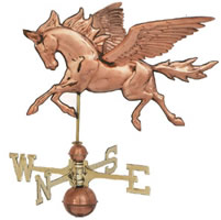 Polished Copper 3-D Pegasus Weathervane