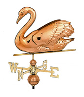 Polished Copper 3-D Swan Weathervane